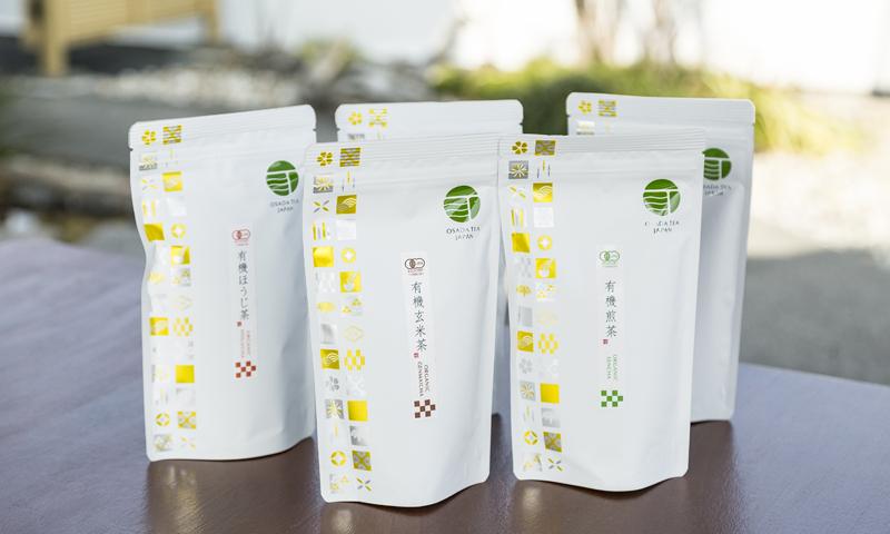 ▲パッケージデザインにもこだわった海外専用ブランド「Osada tea」