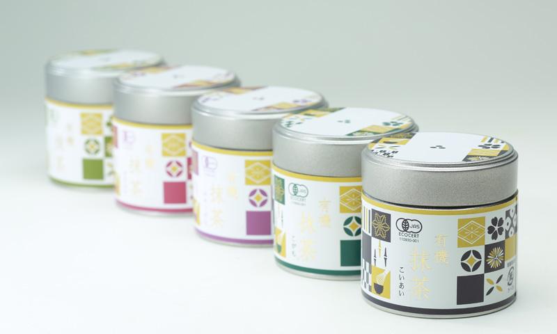 ▲抹茶は缶パッケージで展開。「抹茶の世界的なブームを追い風にしたい」と長田さんは話す